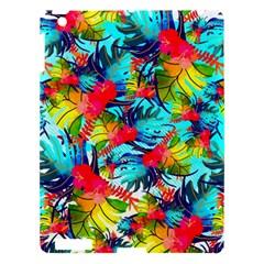 Watercolor Tropical Leaves Pattern Apple Ipad 3/4 Hardshell Case by TastefulDesigns