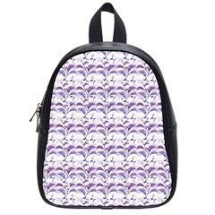 Floral Stripes Pattern School Bags (small)  by dflcprints