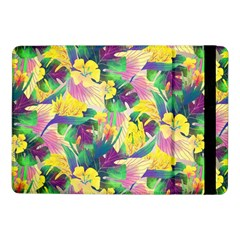 Tropical Flowers And Leaves Background Samsung Galaxy Tab Pro 10 1  Flip Case by TastefulDesigns
