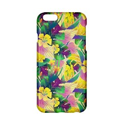 Tropical Flowers And Leaves Background Apple Iphone 6/6s Hardshell Case by TastefulDesigns