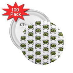 Funny Robot Cartoon 2 25  Buttons (100 Pack)  by dflcprints