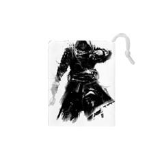 Assassins Creed Black Flag Tshirt Drawstring Pouches (xs)  by iankingart