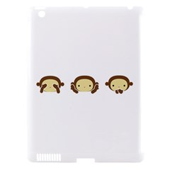 Three Wise Monkeys Apple Ipad 3/4 Hardshell Case (compatible With Smart Cover) by Shopimaginarystory