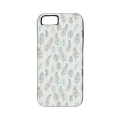 Whimsical Feather Pattern Dusk Blue Apple Iphone 5 Classic Hardshell Case (pc+silicone) by Zandiepants