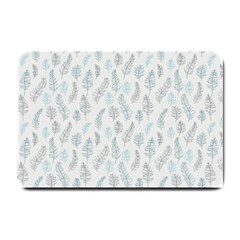 Whimsical Feather Pattern Dusk Blue Small Doormat by Zandiepants
