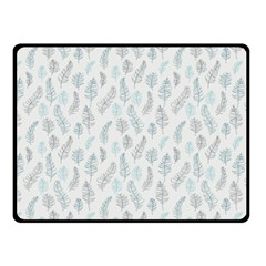 Whimsical Feather Pattern Dusk Blue Double Sided Fleece Blanket (small) by Zandiepants