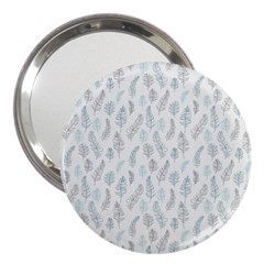 Turquoise Damask Pattern 3  Handbag Mirrors by Zandiepants