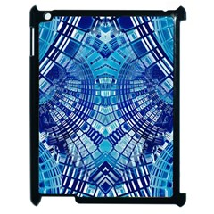 Blue Mirror Abstract Geometric Apple iPad 2 Case (Black)