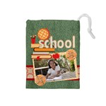 back to school - Drawstring Pouch (Medium)