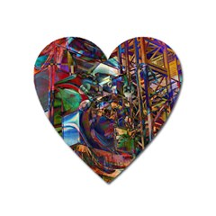 Las Vegas Nevada Ghosts Heart Magnet by CrypticFragmentsDesign