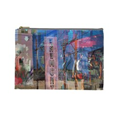 Las Vegas Strip Walking Tour Cosmetic Bag (large)  by CrypticFragmentsDesign