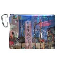 Las Vegas Strip Walking Tour Canvas Cosmetic Bag (xl)  by CrypticFragmentsDesign
