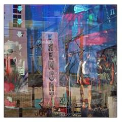 Las Vegas Strip Walking Tour Large Satin Scarf (square) by CrypticFragmentsDesign