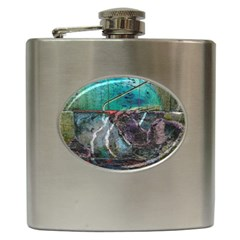 Vegas The Deep End  Hip Flask (6 Oz) by CrypticFragmentsColors