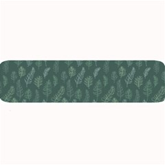 Whimsical Feather Pattern, Forest Green Large Bar Mat by Zandiepants
