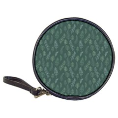 Whimsical Feather Pattern, Forest Green Classic 20 Cd Wallet by Zandiepants