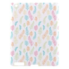 Whimsical Feather Pattern,fresh Colors, Apple Ipad 3/4 Hardshell Case by Zandiepants