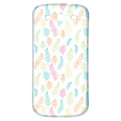 Whimsical Feather Pattern,fresh Colors, Samsung Galaxy S3 S Iii Classic Hardshell Back Case by Zandiepants