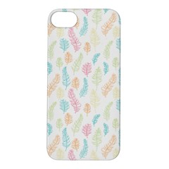 Whimsical Feather Pattern,fresh Colors, Apple Iphone 5s/ Se Hardshell Case by Zandiepants