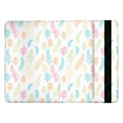 Whimsical Feather Pattern,fresh Colors, Samsung Galaxy Tab Pro 12 2  Flip Case by Zandiepants