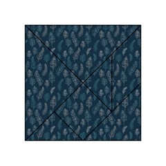 Whimsical Feather Pattern, Midnight Blue, Acrylic Tangram Puzzle (4  x 4 ) by Zandiepants