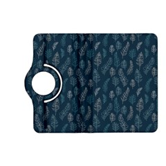 Whimsical Feather Pattern, Midnight Blue, Kindle Fire HD (2013) Flip 360 Case by Zandiepants