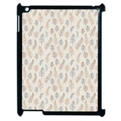 Whimsical Feather Pattern, Nature Brown, Apple Ipad 2 Case (black) by Zandiepants