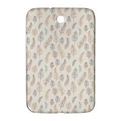 Whimsical Feather Pattern, Nature Brown, Samsung Galaxy Note 8 0 N5100 Hardshell Case  by Zandiepants