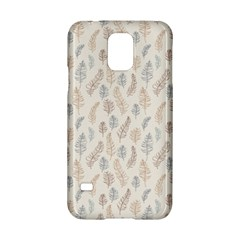 Whimsical Feather Pattern, Nature Brown, Samsung Galaxy S5 Hardshell Case  by Zandiepants
