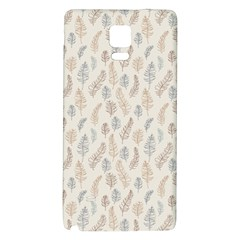 Whimsical Feather Pattern, Nature Brown, Samsung Note 4 Hardshell Back Case by Zandiepants