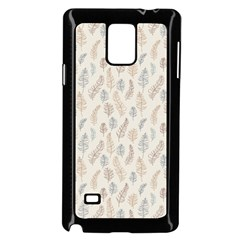Whimsical Feather Pattern, Nature Brown, Samsung Galaxy Note 4 Case (black) by Zandiepants