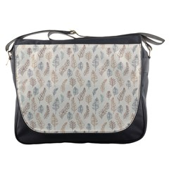Whimsical Feather Pattern, Nature Brown, Messenger Bag by Zandiepants