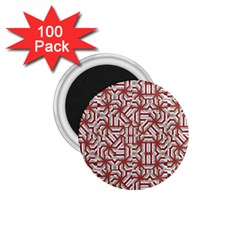 Interlace Tribal Print 1 75  Magnets (100 Pack)  by dflcprints