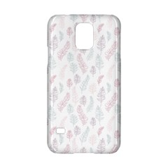 Whimsical Feather Pattern, Soft Colors, Samsung Galaxy S5 Hardshell Case  by Zandiepants