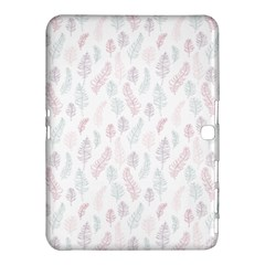 Whimsical Feather Pattern, Soft Colors, Samsung Galaxy Tab 4 (10 1 ) Hardshell Case  by Zandiepants