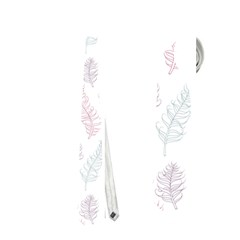 Whimsical Feather Pattern, Soft Colors, Necktie (two Side) by Zandiepants