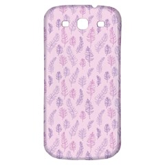 Whimsical Feather Pattern, Pink & Purple, Samsung Galaxy S3 S Iii Classic Hardshell Back Case by Zandiepants