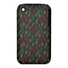 Whimsical Feather Pattern, Autumn Colors, Apple Iphone 3g/3gs Hardshell Case (pc+silicone) by Zandiepants