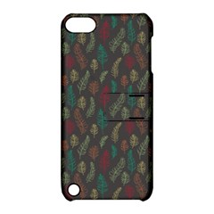 Whimsical Feather Pattern, Autumn Colors, Apple Ipod Touch 5 Hardshell Case With Stand by Zandiepants