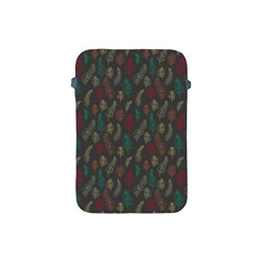 Whimsical Feather Pattern, Autumn Colors, Apple Ipad Mini Protective Soft Case by Zandiepants