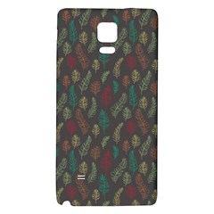 Whimsical Feather Pattern, Autumn Colors, Samsung Note 4 Hardshell Back Case by Zandiepants
