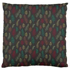 Whimsical Feather Pattern, Autumn Colors, Standard Flano Cushion Case (two Sides) by Zandiepants