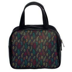 Whimsical Feather Pattern, Autumn Colors, Classic Handbag (two Sides) by Zandiepants