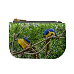 South American Couple Of Parrots Mini Coin Purses by dflcprints