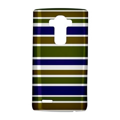 Olive Green Blue Stripes Pattern Lg G4 Hardshell Case by BrightVibesDesign