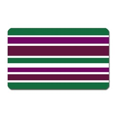 Purple Green Stripes Magnet (rectangular) by BrightVibesDesign