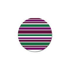 Purple Green Stripes Golf Ball Marker by BrightVibesDesign