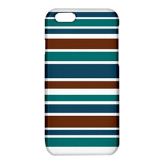 Teal Brown Stripes iPhone 6/6S TPU Case by BrightVibesDesign