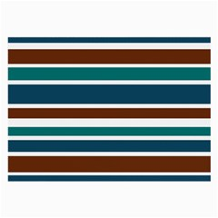 Teal Brown Stripes Large Glasses Cloth by BrightVibesDesign