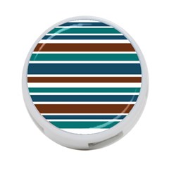 Teal Brown Stripes 4 Port Usb Hub (one Side) by BrightVibesDesign